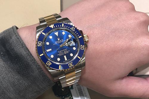 劳力士潜航者型系列116613LB-97203 蓝盘腕表回收